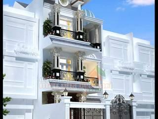 Mẫu biệt thự 3 tầng đẹp 7x17m kiến trúc Pháp Công ty TNHH TKXD Nhà Đẹp Mới Biệt thự