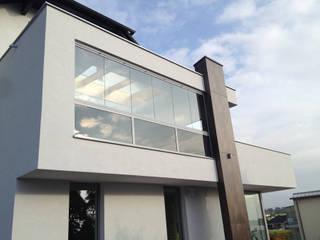 Windschutz für Balkon - Sunflex Balkonverglasung SF 25 Schmidinger Wintergärten, Fenster & Verglasungen Moderner Wintergarten Glas Grau