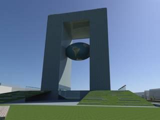Architecture visualisation for APNRT Icon building front view:   by Srushti VIZ