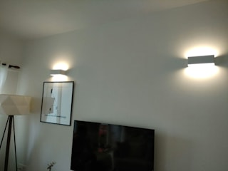 Lighting Automation and Media control system Modern living room by Alfaone Technologies Pvt Ltd Modern