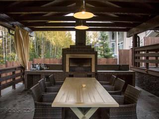 Барбекю зона Балкон в скандинавском стиле от Творческая мастерская АRTBOOS Скандинавский Дерево Эффект древесины