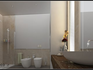 Private bathroom Bagno moderno di AG Interior Design Moderno