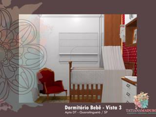 Apto DT - Guaratinguetá/SP: Quartos das meninas  por Tatiana Maduro Arquitetura . Interiores,Moderno