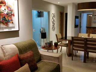Sala e cozinha integrada: Salas de estar  por Seleto Studio Design de Interiores,Moderno