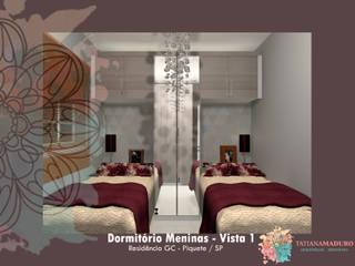 Dormitório Meninas: Quartos  por Tatiana Maduro Arquitetura . Interiores,Moderno