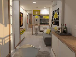 Stúdio 40+1 por Arquitetos Urbanistas Planejamento e Projetos Ltda