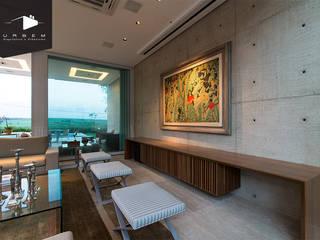 FMG Monte Alegre: Salas de estar  por Urbem Arquitetura,Moderno