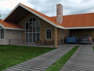 LK Studio Arquitetura:  tarz Kır evi