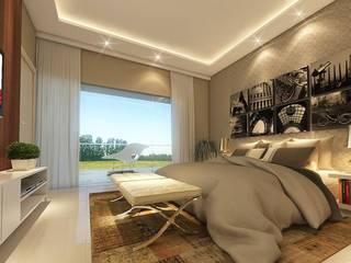 Quarto Casal Quartos modernos por LK Studio Arquitetura Moderno