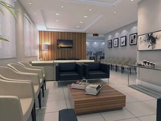 Sala de Espera Comercial Corredores, halls e escadas modernos por LK Studio Arquitetura Moderno