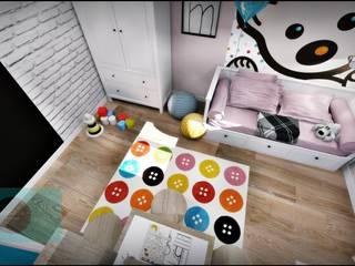 Pokoj dziewczynki od Fusion- projektowanie i aranżacja wnetrz