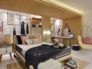 Scandinavian style bedroom by ARQUITETURA - Camila Fleck Scandinavian