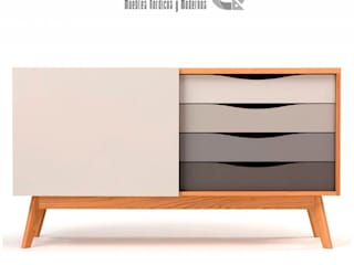 Aparador Nórdico tonos grises:  de estilo  por Nordiq