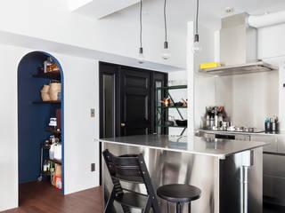 H邸-横浜で選ぶ、19畳のリビングダイニング生活 モダンな キッチン の 株式会社ブルースタジオ モダン