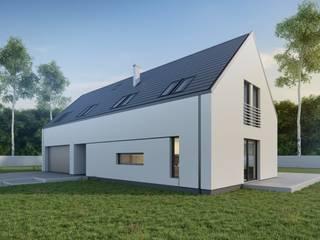 Projekt domu B03 G2 StudioA&W Minimalistyczne domy od Architekt Łukasz Bulga Studio A&W Kraków | Projekty domów nowoczesnych Minimalistyczny