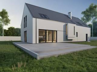 Projekt domu B03 G2 StudioA&W Nowoczesne domy od Architekt Łukasz Bulga Studio A&W Kraków | Projekty domów nowoczesnych Nowoczesny