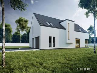 Projekt domu B04 Nowoczesne domy od Architekt Łukasz Bulga Studio A&W Kraków | Projekty domów nowoczesnych Nowoczesny