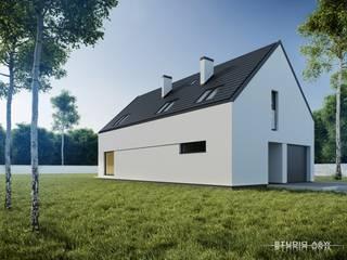 Projekt domu B04 Minimalistyczne domy od Architekt Łukasz Bulga Studio A&W Kraków | Projekty domów nowoczesnych Minimalistyczny