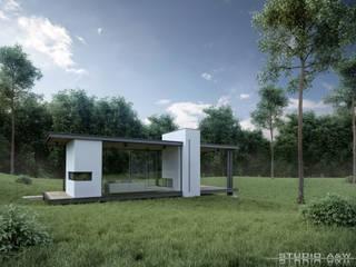 Coffee House StudioA&W Nowoczesne domy od Architekt Łukasz Bulga Studio A&W Kraków | Projekty domów nowoczesnych Nowoczesny