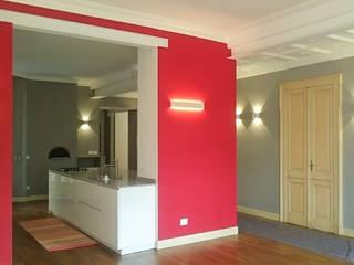 appartamento di Clara e Alessandro: Soggiorno in stile in stile Moderno di enrico girardi architetto