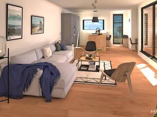 Perspective de la pièce à vivre: Salon de style de style Moderne par MJ Intérieurs