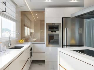 مطبخ ذو قطع مدمجة تنفيذ Rau Duarte Arquitetura,