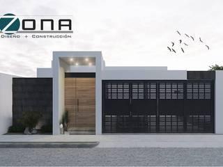 FACHADA Casas minimalistas de ZONA DISEÑO Y CONSTRUCCION Minimalista