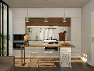 Maxima Studio Medan Interior Design & Arsitek Kitchen units Wood Grey