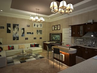 Villa Mrs. Nabila : eclectic Living room by Rêny
