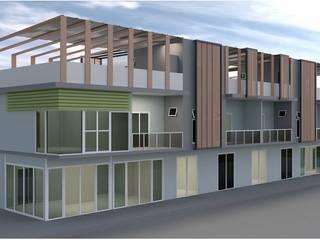 ออกแบบ อาคารพานิชย์ 2ชั้น 8คูหา style modern ค่ะ โดย mayartstyle