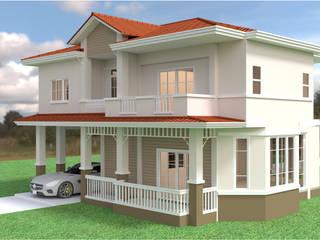 บ้านเดี่ยว 2ชั้น style country โดย mayartstyle คันทรี่