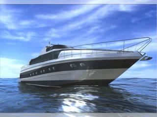 FreeStyle Imbarcazione con tuga flessibile Yacht & Jet in stile moderno di Gualtiero Del Zompo dzarch Moderno