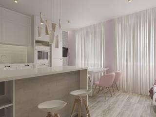 Mieszkanie WROCŁAW: styl , w kategorii Aneks kuchenny zaprojektowany przez Paleta Form