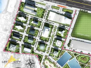 Masterplan LRT city - Gatot subroto Road - Jakarta 1:   by bplusarsitektur