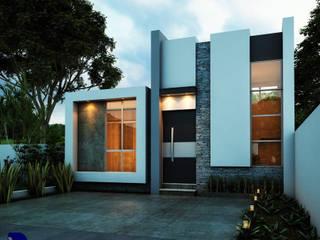 CASA ATLANTA: Casas unifamiliares de estilo  por Alan Rangel Arquitecto