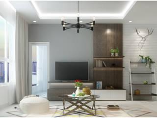 Asiatische Wohnzimmer von Công ty TNHH TMDV Decor KT Asiatisch
