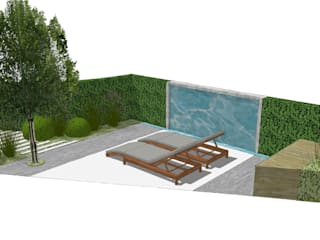 Ivenforth House:  Roof terrace by Aralia
