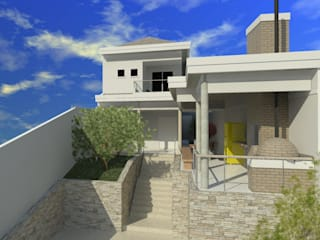 Casa Guaratiba : Casas familiares  por Alves Bellotti Arquitetura & Design,