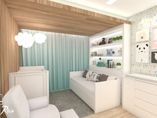 Dormitorios infantiles de estilo  de LARISSA REIS ARQUITETURA, Minimalista