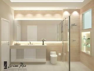 現代浴室設計點子、靈感&圖片 根據 LARISSA REIS ARQUITETURA 現代風