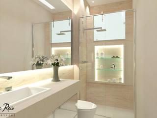 Banho Social - E&E: Banheiros  por LARISSA REIS ARQUITETURA,Moderno