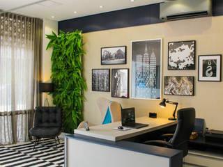 Projeto escritorio Espaços comerciais modernos por Planejar Interiores - Balneario Camboriu Moderno