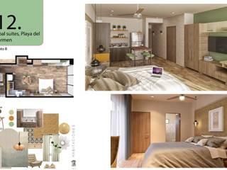 Habitación sencilla: Estudios y oficinas de estilo topical por Andrea Loya