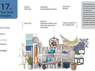 Remodelación casa en zona hotelera: Casas multifamiliares de estilo  por Andrea Loya