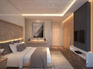 Grawisa Residence lucid interior Kamar Tidur Minimalis