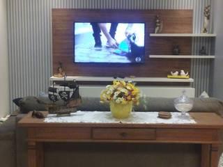 Área social de apartamento de férias : Salas de estar  por daniela oliveira arquitetura,Tropical