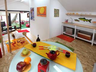 RUSTICASA Industrial style bedroom Wood Wood effect