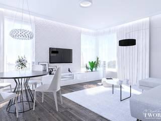 Kolorowy Gocław 1: styl , w kategorii  zaprojektowany przez Klaudia Tworo Projektowanie Wnętrz