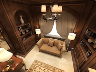 Residential Villa _ New Cairo:  مكتب عمل أو دراسة تنفيذ  Axis Architects for architecture and interior design