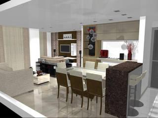Столовая комната в стиле модерн от CG Reforme e Decore Модерн